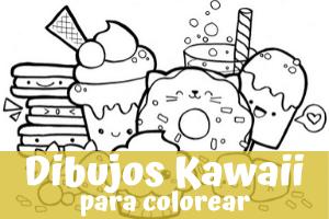 Dibujos kawaii para colorear