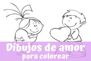 Dibujos para colorear de amor